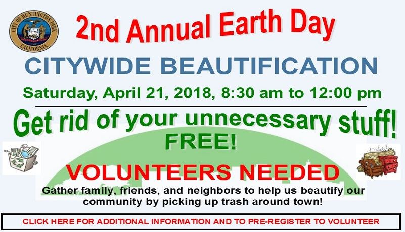 2nd  Annual Earth Day - Citywide Beautification Event - 2018