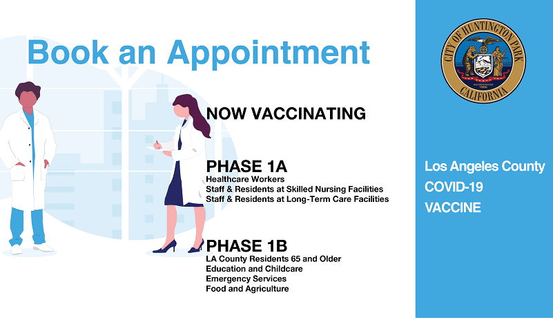 LA County vaccine phase and appointments