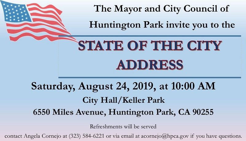 State of the City Address invite 2019